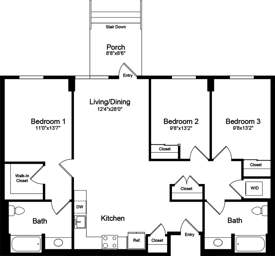 3 Bedrooms 2 Bathrooms Apartment for rent at 855 Brannan in San Francisco, CA