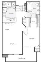 1 Bedroom 1 Bathroom Apartment for rent at Harrison Square in Seattle, WA