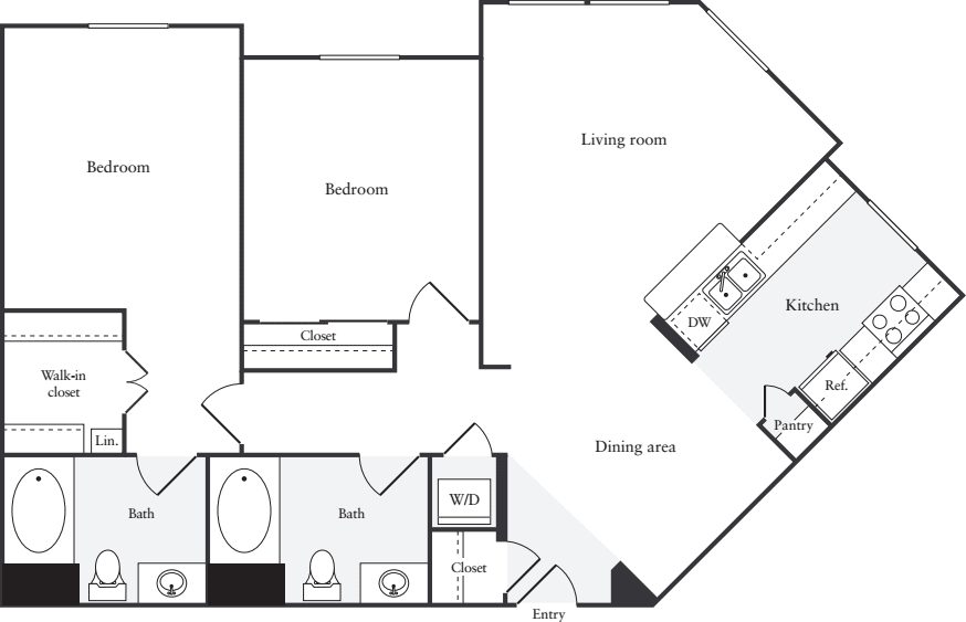 2 Bedrooms 2 Bathrooms Apartment for rent at South City Station in S San Francisco, CA