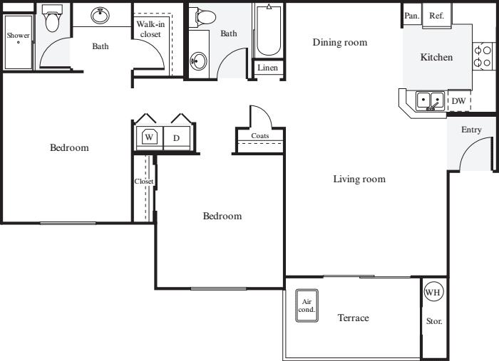 2 Bedrooms 2 Bathrooms Apartment for rent at Estancia At Santa Clara in Santa Clara, CA
