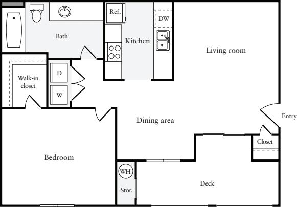 1 Bedroom 1 Bathroom Apartment for rent at Riva Terra Apartments At Redwood Shores in Redwood City, CA