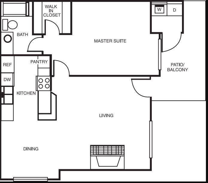 1 Bedroom 1 Bathroom Apartment for rent at Montierra in San Diego, CA