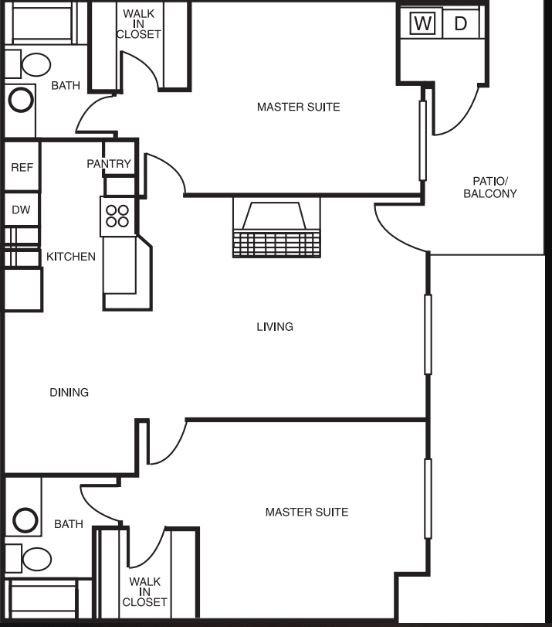 2 Bedrooms 2 Bathrooms Apartment for rent at Montierra in San Diego, CA