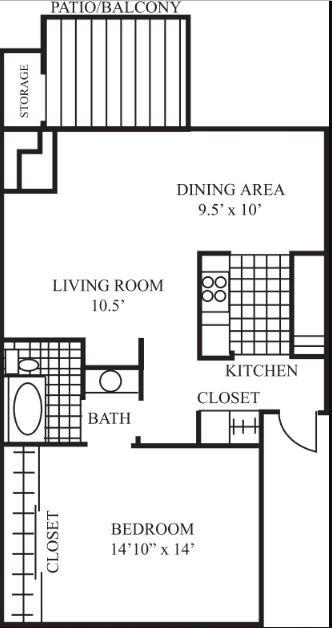1 Bedroom 1 Bathroom Apartment for rent at Laguna Clara in Santa Clara, CA
