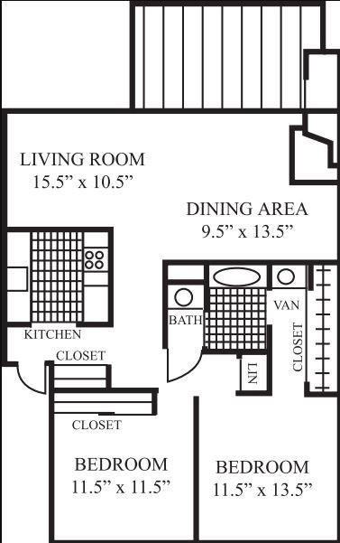 2 Bedrooms 1 Bathroom Apartment for rent at Laguna Clara in Santa Clara, CA