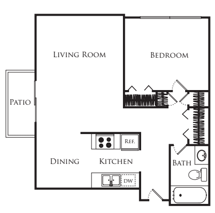 1 Bedroom 1 Bathroom Apartment for rent at Avenue Two in Redwood City, CA