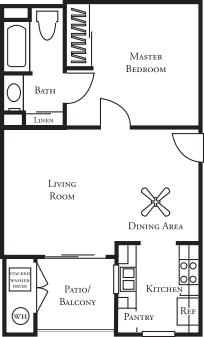 1 Bedroom 1 Bathroom Apartment for rent at Ridgewood Village in San Diego, CA