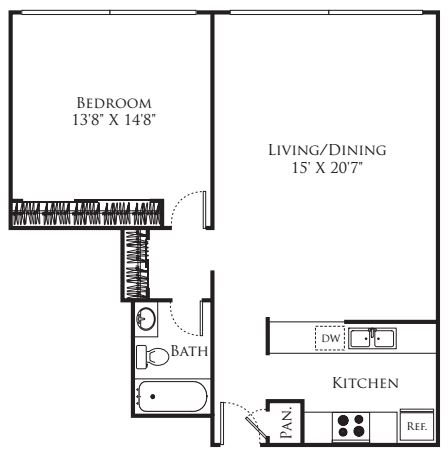 1 Bedroom 1 Bathroom Apartment for rent at The Terraces in San Francisco, CA
