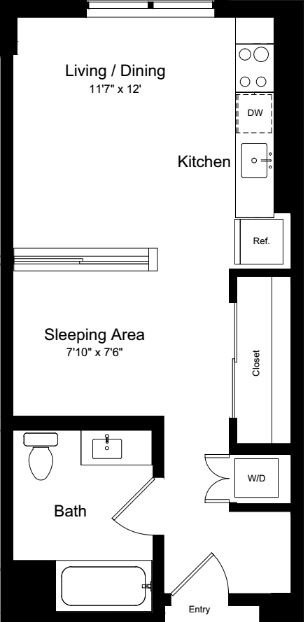 Studio 1 Bathroom Apartment for rent at One Henry Adams in San Francisco, CA