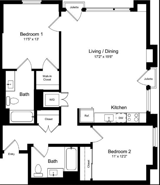 2 Bedrooms 2 Bathrooms Apartment for rent at One Henry Adams in San Francisco, CA