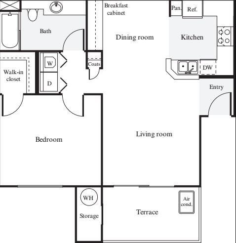 1 Bedroom 1 Bathroom Apartment for rent at Estancia At Santa Clara in Santa Clara, CA