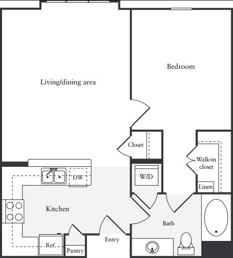 1 Bedroom 1 Bathroom Apartment for rent at South City Station in S San Francisco, CA