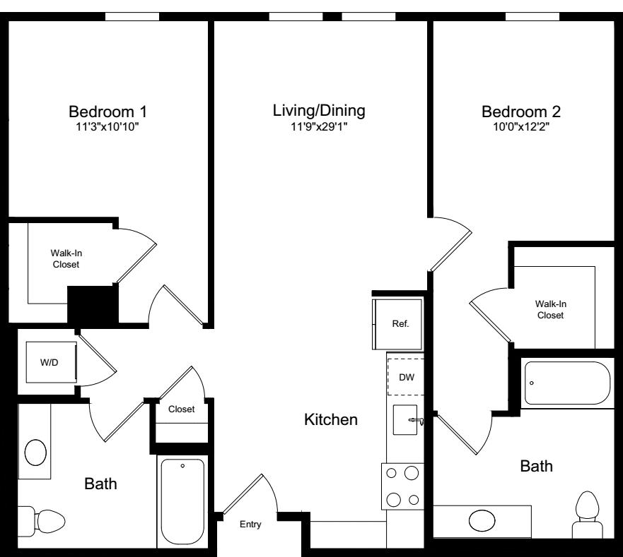 2 Bedrooms 2 Bathrooms Apartment for rent at 855 Brannan in San Francisco, CA