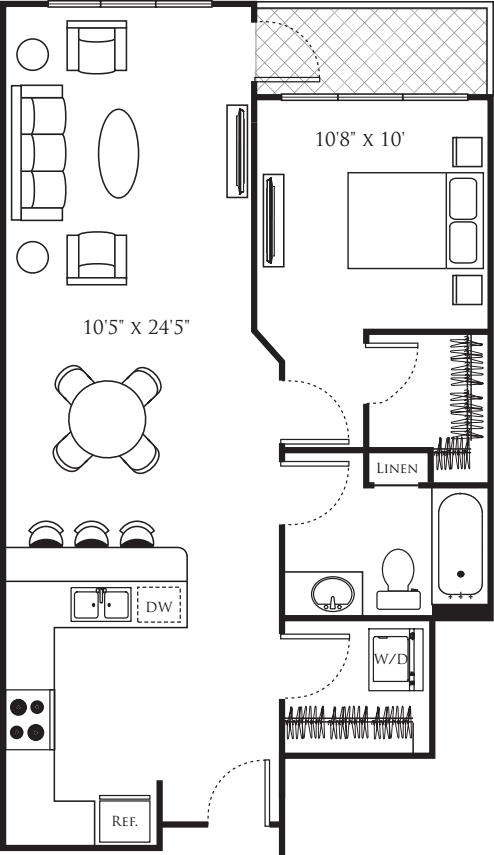 1 Bedroom 1 Bathroom Apartment for rent at Urbana in Seattle, WA
