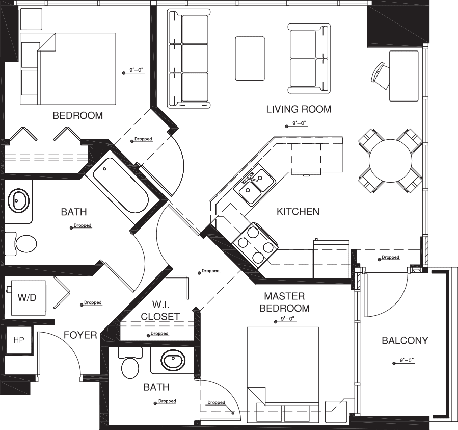 2 Bedrooms 1 Bathroom Apartment for rent at Vantage Pointe in San Diego, CA