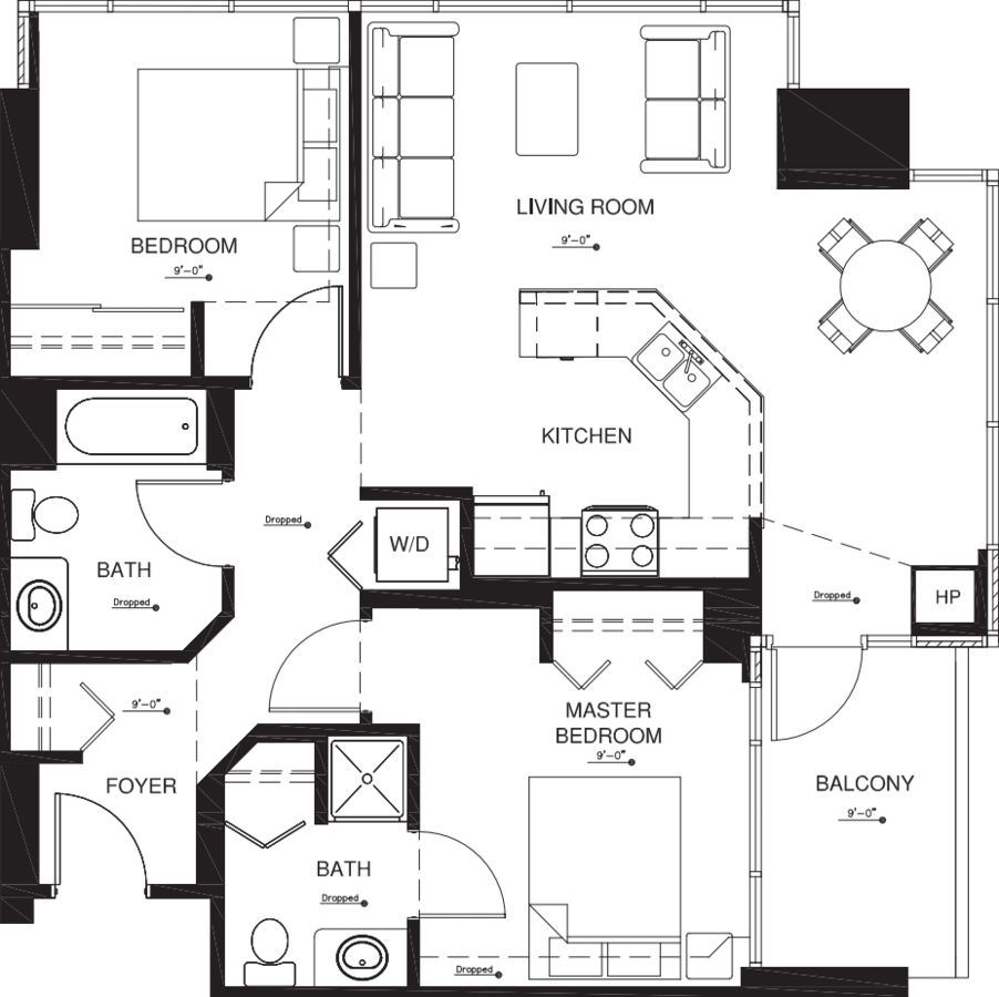 2 Bedrooms 2 Bathrooms Apartment for rent at Vantage Pointe in San Diego, CA
