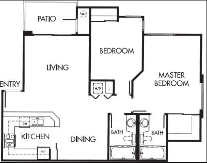 2 Bedrooms 2 Bathrooms Apartment for rent at Canyon Ridge in San Diego, CA