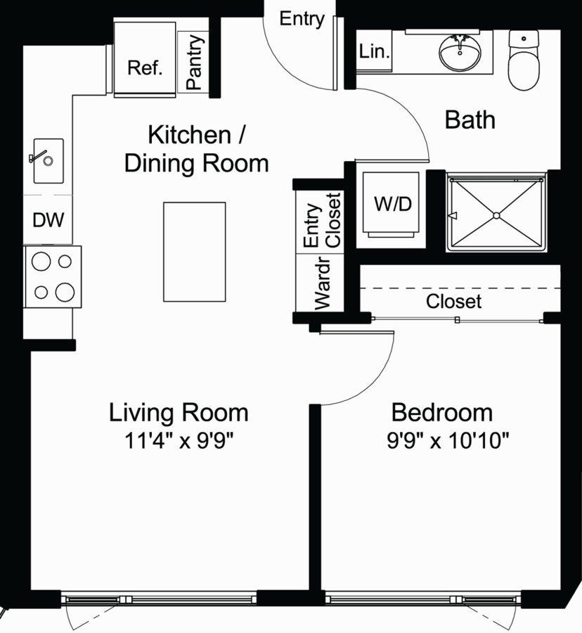 1 Bedroom 1 Bathroom Apartment for rent at Chloe On Madison in Seattle, WA