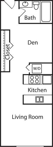 Studio 1 Bathroom Apartment for rent at Centennial Tower And Court in Seattle, WA