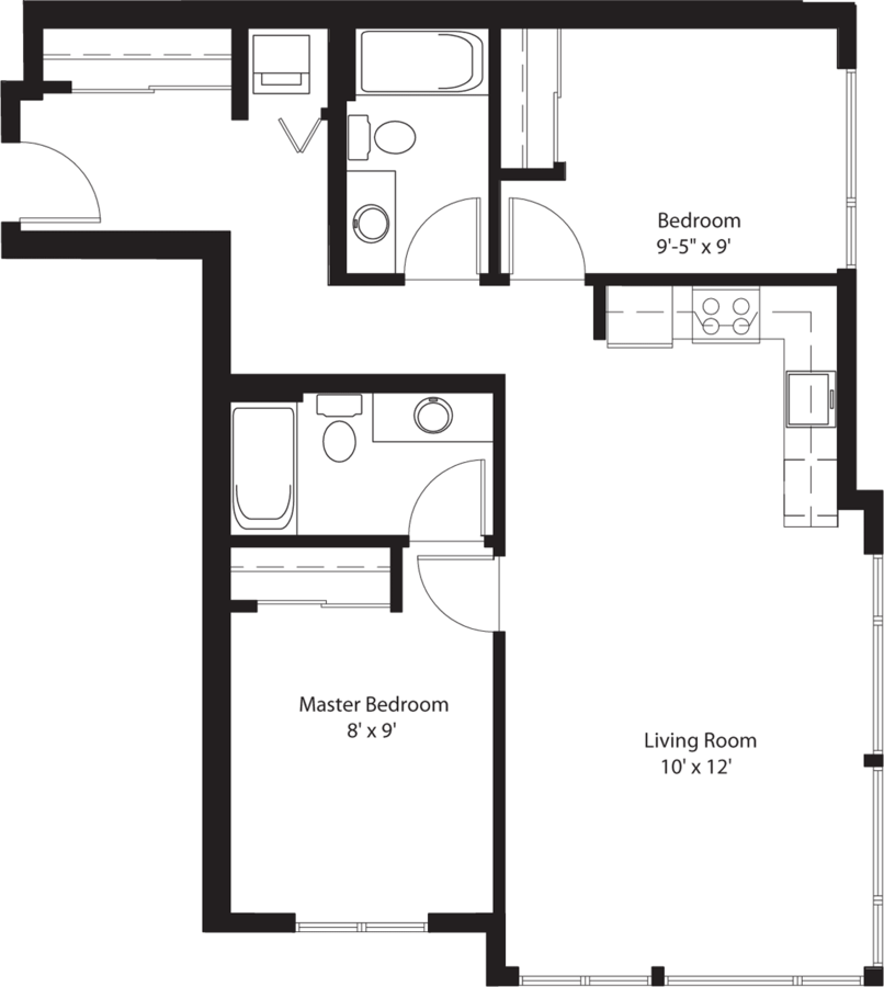 2 Bedrooms 2 Bathrooms Apartment for rent at Chloe On Union in Seattle, WA