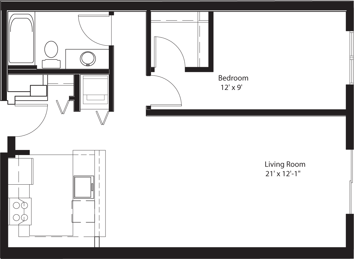 1 Bedroom 1 Bathroom Apartment for rent at Chloe On Union in Seattle, WA