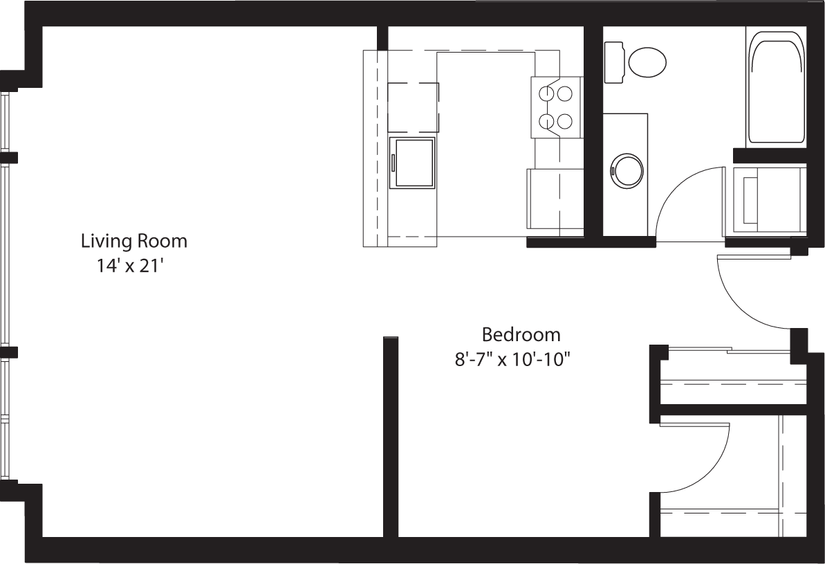 Studio 1 Bathroom Apartment for rent at Chloe On Union in Seattle, WA