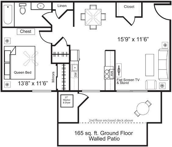 1 Bedroom 1 Bathroom Apartment for rent at Villagio Luxury Apartments in Tempe, AZ