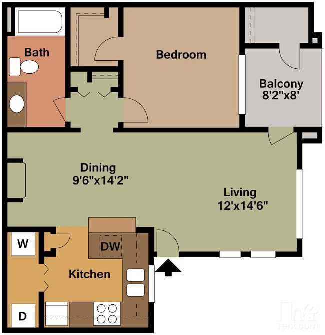 1 Bedroom 1 Bathroom Apartment for rent at Green Leaf Tempe Station in Tempe, AZ