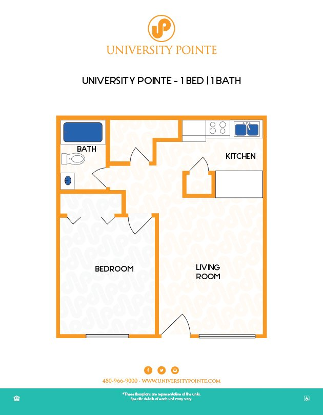 1 Bedroom 1 Bathroom Apartment for rent at University Pointe in Tempe, AZ