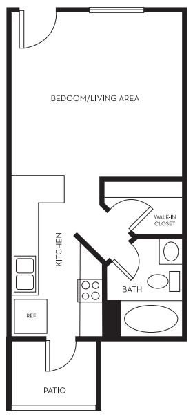 Studio 1 Bathroom Apartment for rent at Onnix in Tempe, AZ