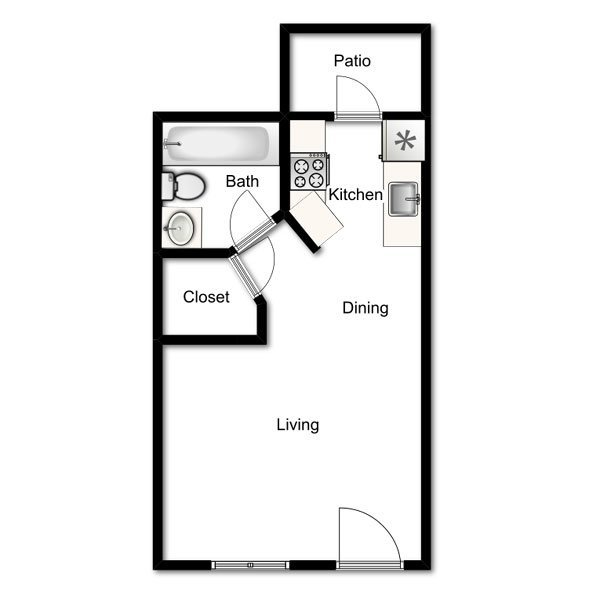 1 Bedroom 1 Bathroom Apartment for rent at Willow Creek Apartments in Tempe, AZ