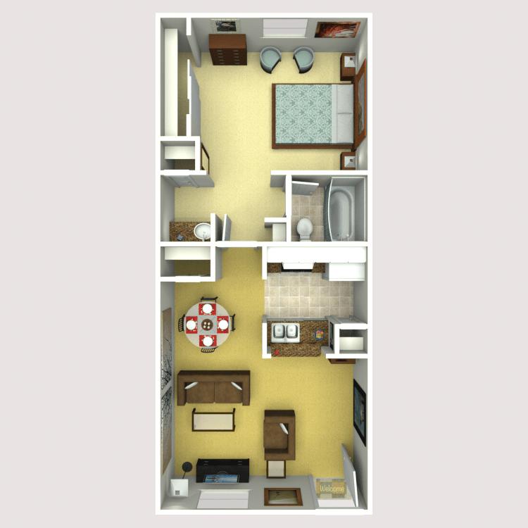 1 Bedroom 1 Bathroom Apartment for rent at Eastridge Apartments in Tempe, AZ