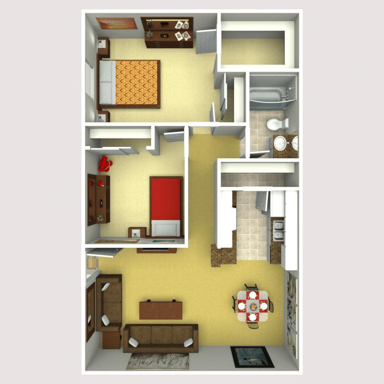 2 Bedrooms 1 Bathroom Apartment for rent at Eastridge Apartments in Tempe, AZ