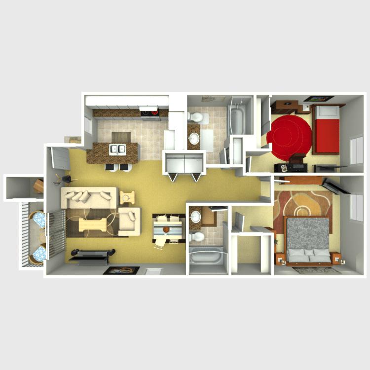 2 Bedrooms 2 Bathrooms Apartment for rent at Eastridge Apartments in Tempe, AZ