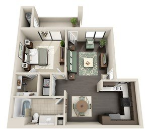 1 Bedroom 1 Bathroom Apartment for rent at The Enclave in Tempe, AZ