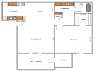 1 Bedroom 1 Bathroom Apartment for rent at La Paloma Apartments in Tempe, AZ
