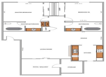 2 Bedrooms 2 Bathrooms Apartment for rent at La Paloma Apartments in Tempe, AZ