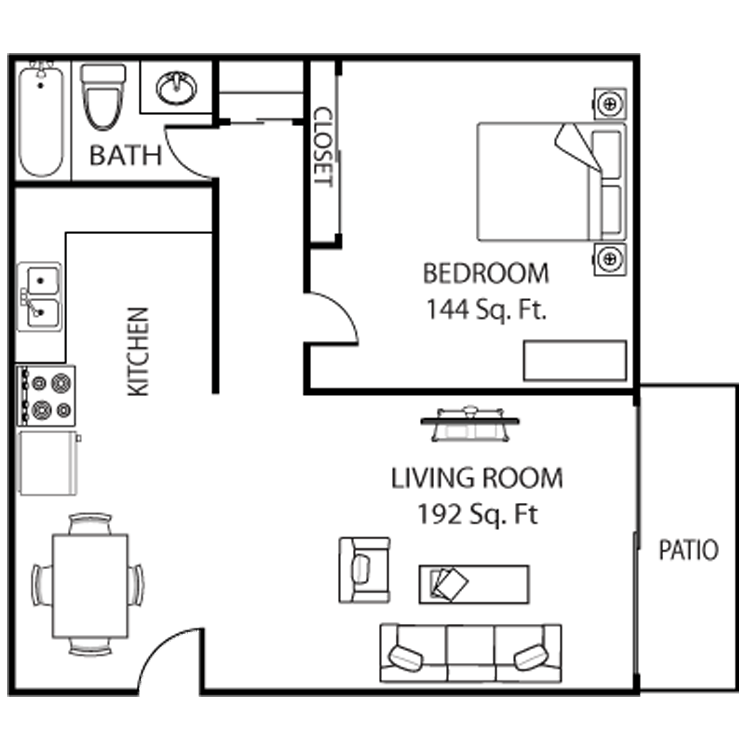 1 Bedroom 1 Bathroom Apartment for rent at Asu Crossroads in Tempe, AZ