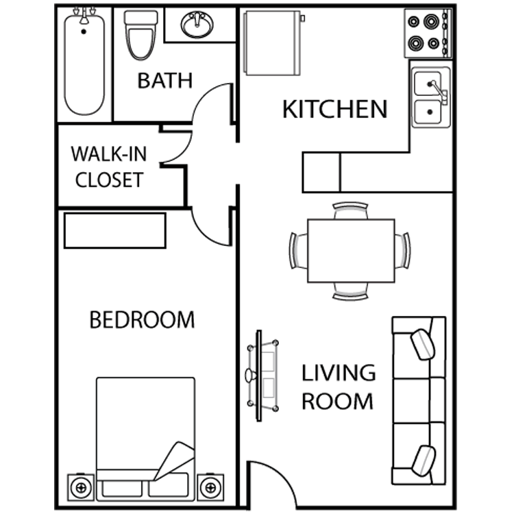 1 Bedroom 1 Bathroom Apartment for rent at Asu Crossroads in Tempe, AZ