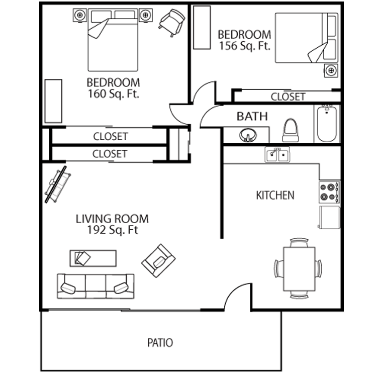 2 Bedrooms 1 Bathroom Apartment for rent at Asu Crossroads in Tempe, AZ
