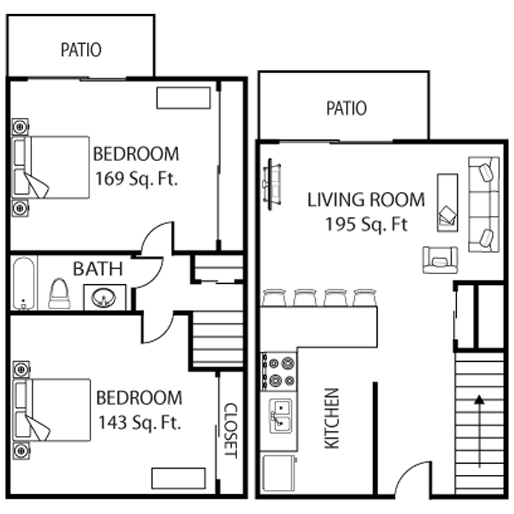 2 Bedrooms 1 Bathroom Apartment for rent at Asu Crossroads in Tempe, AZ