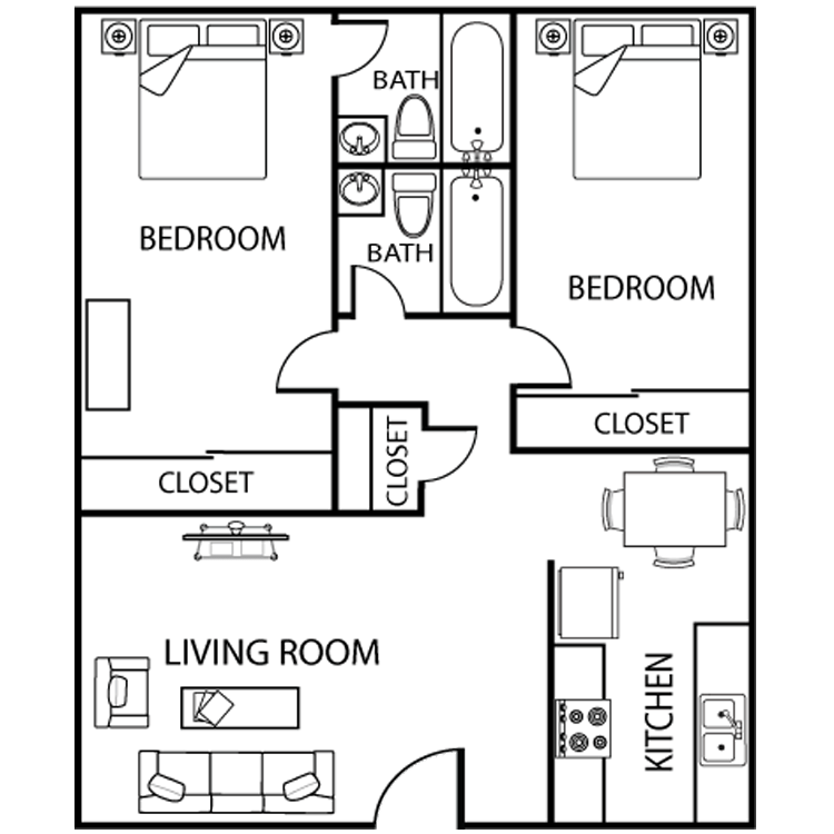 2 Bedrooms 2 Bathrooms Apartment for rent at Asu Crossroads in Tempe, AZ