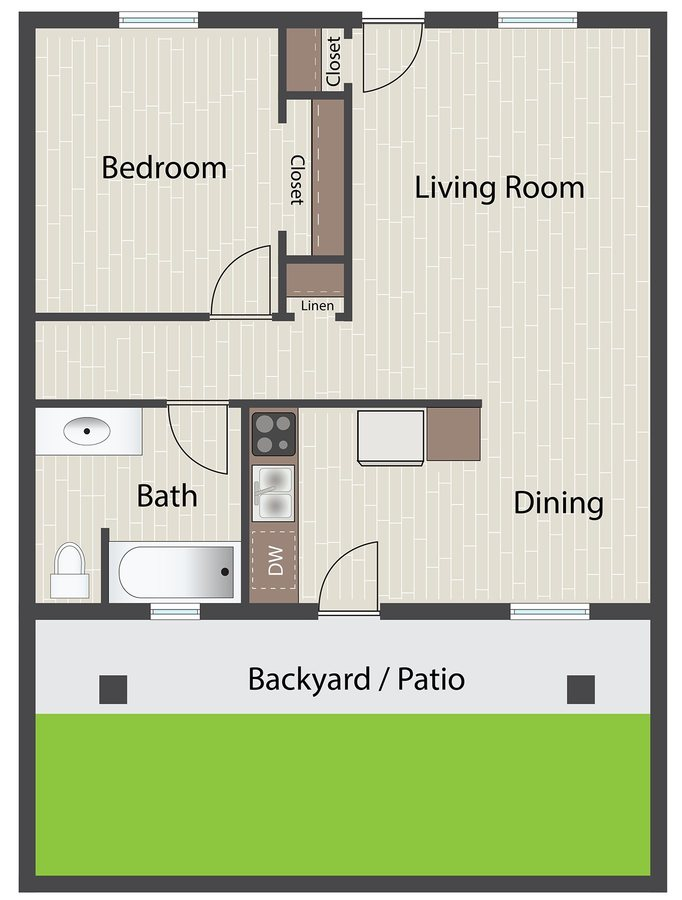 1 Bedroom 1 Bathroom Apartment for rent at The Standard in Tempe, AZ