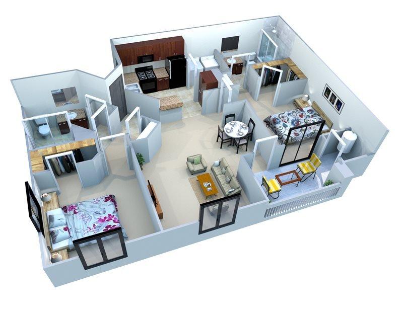 2 Bedrooms 2 Bathrooms Apartment for rent at San Portella in Tempe, AZ