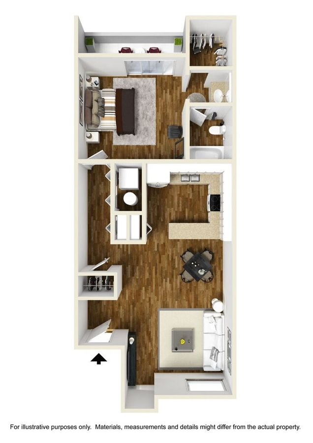 1 Bedroom 1 Bathroom Apartment for rent at Ovation At Tempe in Tempe, AZ