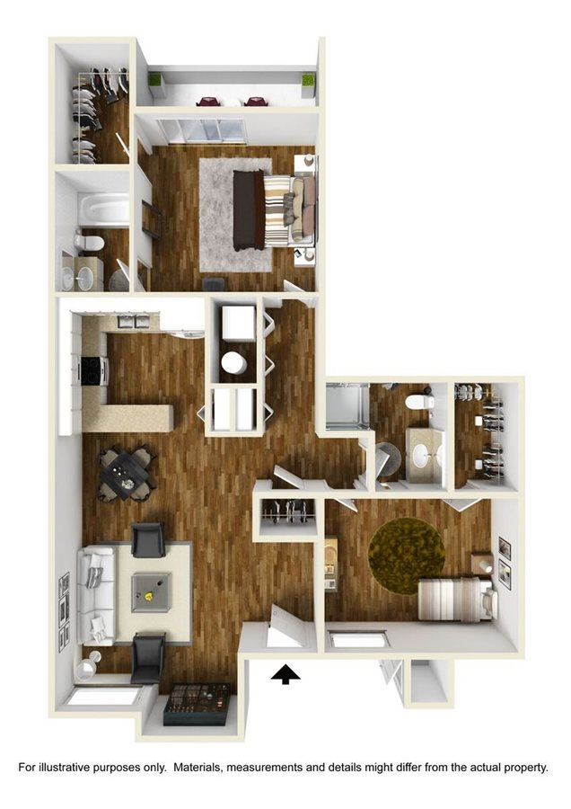 2 Bedrooms 2 Bathrooms Apartment for rent at Ovation At Tempe in Tempe, AZ