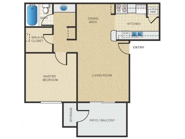 1 Bedroom 1 Bathroom Apartment for rent at Mission Springs in Tempe, AZ