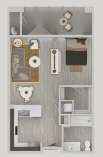 Studio 1 Bathroom Apartment for rent at Nexa in Tempe, AZ