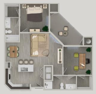 2 Bedrooms 2 Bathrooms Apartment for rent at Nexa in Tempe, AZ