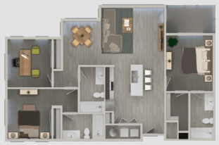 3 Bedrooms 3 Bathrooms Apartment for rent at Nexa in Tempe, AZ